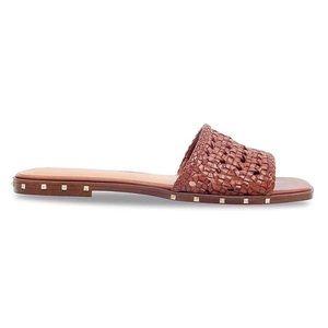 March Fisher Jeremy Woven Flat Studded Sandal